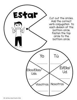 Spanish Interactive Notebook Estar Plus Prepositions