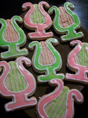 Lyre cookies :)Sugar Cookies, Alpha Chi Omega, Michigan State, Lyre Cookies, Axo Lyre, A Chi O', Alphachi, Cookies Cutters, Cookie Cutters