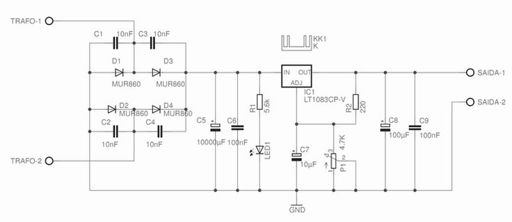 Diyotron.com-7.5A ADJUSTABLE POWER SUPPLY 1.2-25V - LT1083