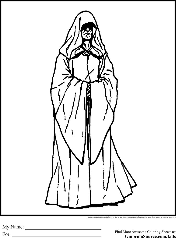 Star Wars Coloring Pages Emporer