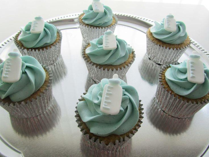 Nye baby, babyshower, lille dreng, barnedåb, cupcakes, kage, fest, vanilje, Lille Kage Hus, Danmark