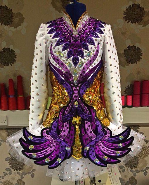 Irish Dance Solo Dress Costume #glitter!!!!!!!!!