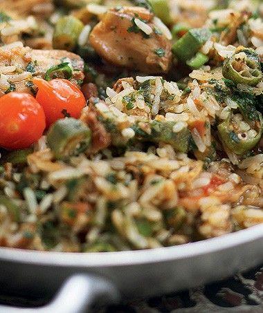 Arroz de galinhada caipira   Receita da Chef Janaina Rueda, do Bar da Dona Onça