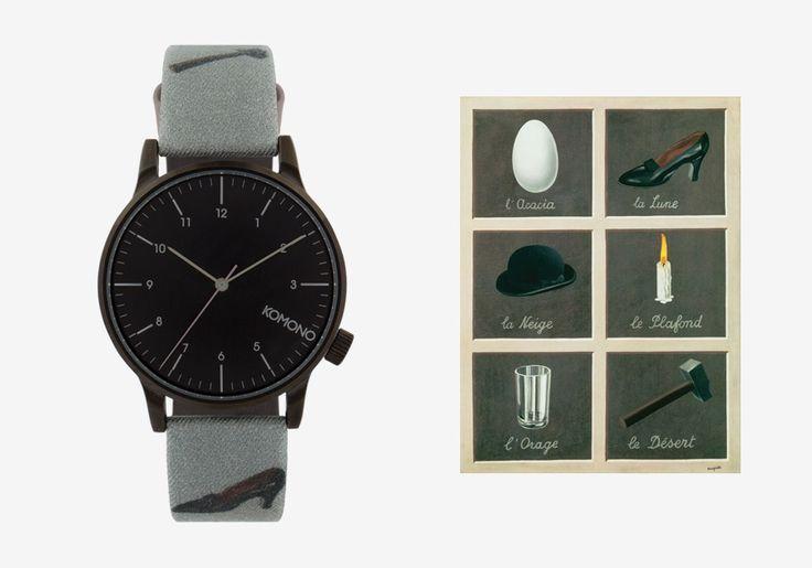 Komono x René Magritte — hodinky Winston — pánské, dámské — surrealistické motivy — The Dream's Key — Klíč ke snům #watches #komono #surrealism #magrite #renemagritte #surrealismus #hodinky #winston