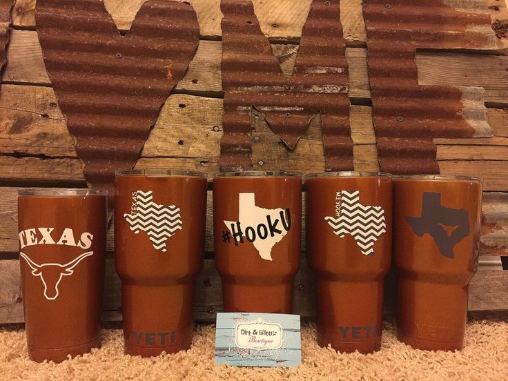 Order your Texas Longhorns YETI Rambler/Colster today! Love the theme but not the team?Order a special one for you with your favorite team! by DirtnGlitterBoutique on Etsy https://www.etsy.com/listing/254116601/order-your-texas-longhorns-yeti