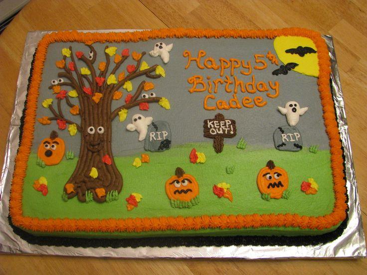 Halloween Sheet Cake Decorating Ideas : halloween birthday cakes halloween birthday cake ...