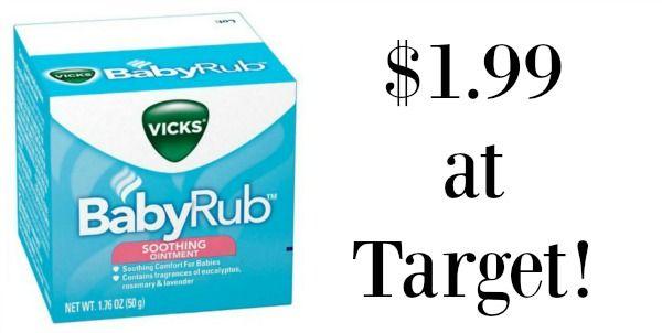 Target: Vicks Vapo Baby Rub Only $1.99!