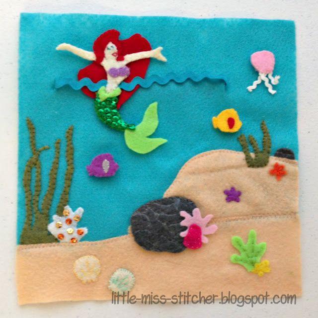 Little Miss Stitcher: The Little Sister Quiet Book: Under the Sea