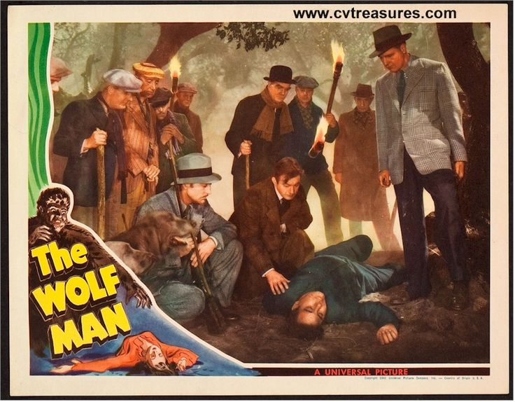 """The Wolf Man"", 1941  Original Vintage Movie Poster Lobby Card (11x14"") Starring Lon Chaney...Guaranteed Authentic for life at http://www.cvtreasures.com   $1850"