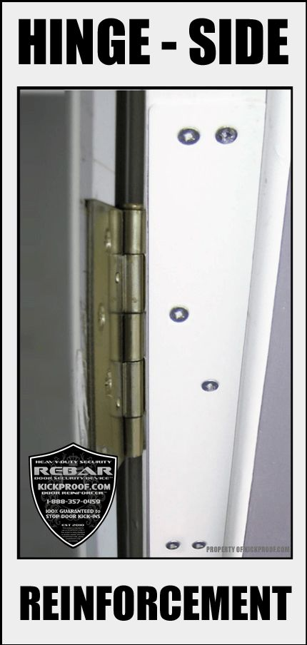 Buy 2 Get 1 FREE - Rebar Door Jamb Reinforcement Kit STOP Door Kick-ins  sc 1 st  Pinterest & 36 best KICKPROOF.COM - REBAR DOOR SECURITY images on Pinterest ... pezcame.com