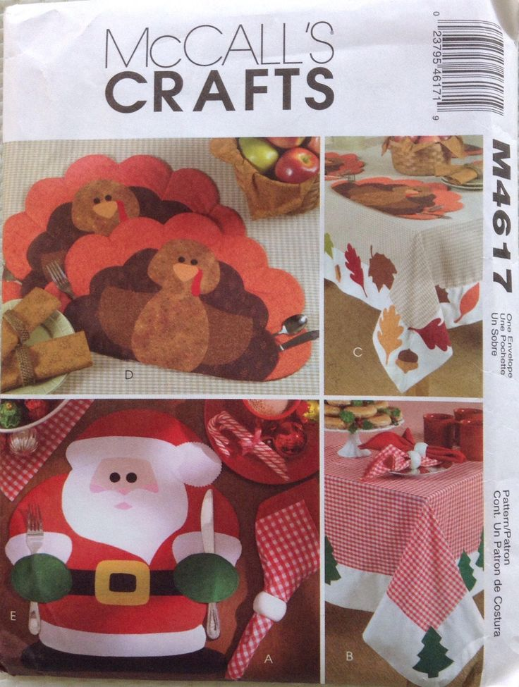 Thanksgiving and Christmas Holiday table settings McCalls pattern by Followlight on Etsy