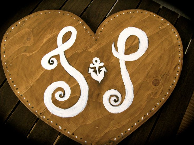 Wooden sign for wedding.