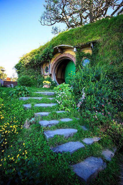 The Shire, Green Dragon Pub, Hobbiton, Matamata, New Zealand // @lexi Serrao #newzealand #hobbiton