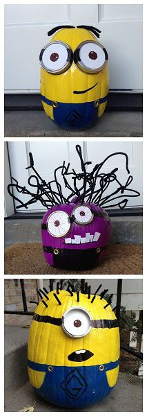 minion pumpkin no carving design minion pumpkin painting idea - Halloween Pumpkin Designs Without Carving