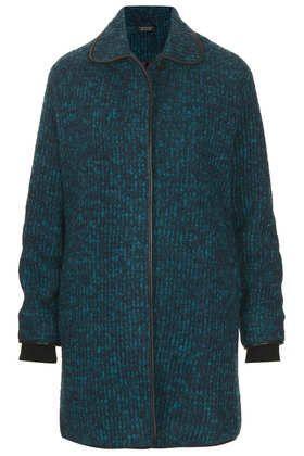 Knitted Coatigan - Coats  - Clothing