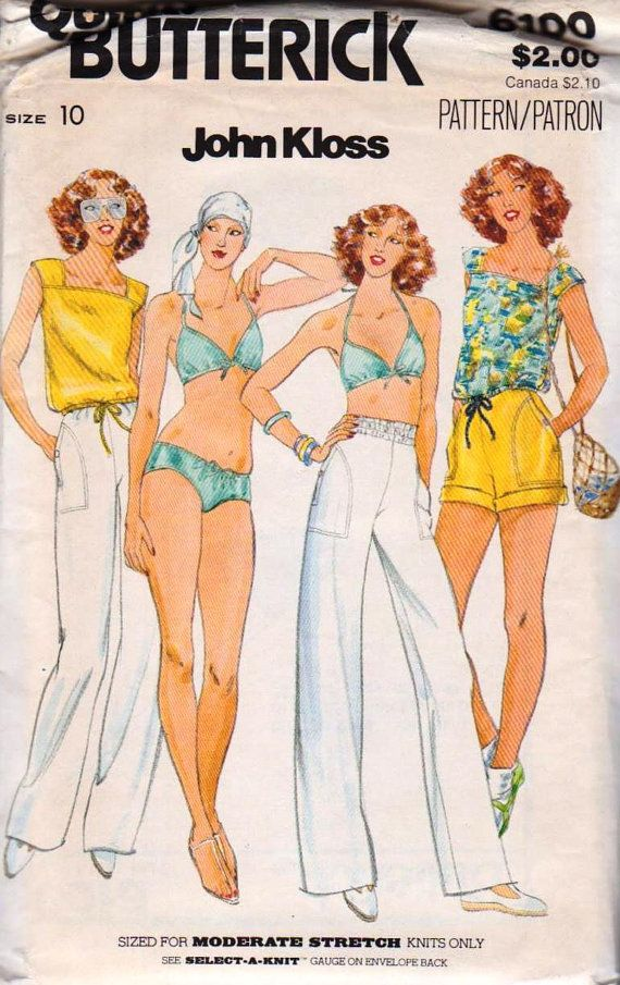 Butterick 6100 John Kloss Misses Bikini T Shirt Pants by miss32act, $8.00
