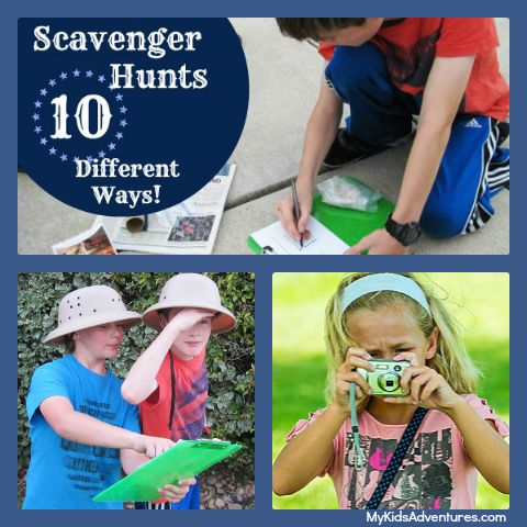 10 scavenger hunt ideas (with FREE printable checklists) to do right now with your kids. Tips and tricks to help you create your own scavenger hunt anytime.