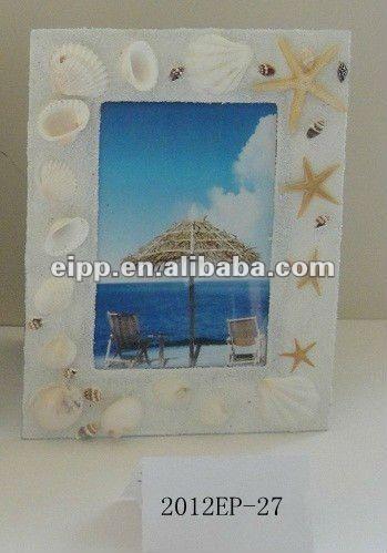 2012 sea shell decorative frame handmade photo frame
