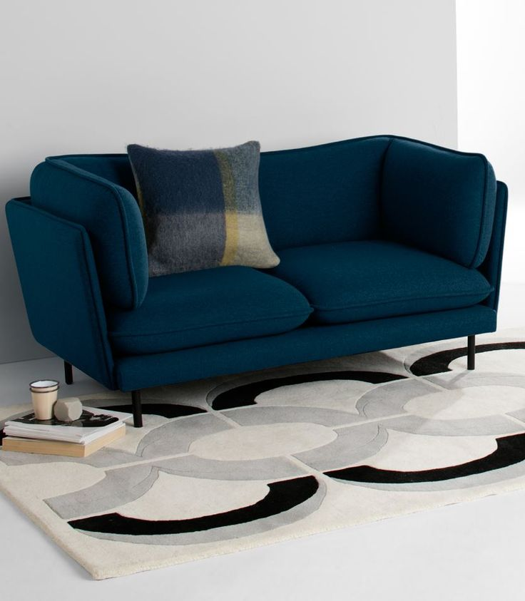 Leuke kleur!!  Wes 2 Seater Sofa, MADE.COM Inspired by Scandi elements, Swedish-founded design…
