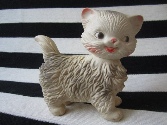 Edward Mobley, Arrow Rubber and Plastics company, Mittens the Fluffy Kitten, 1961, Squeak toy,