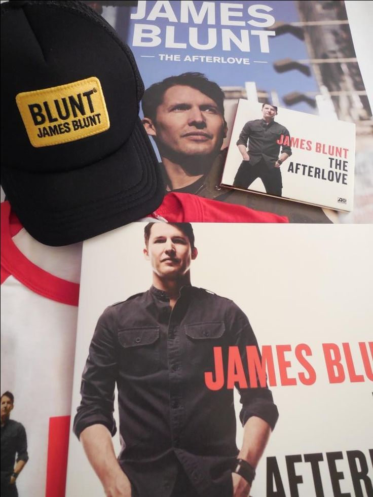 James Blunt opening act for Ed Sheeran on 'Divide' North American Tour 2017 | Tour merchandise - Credit: James Blunt Canada
