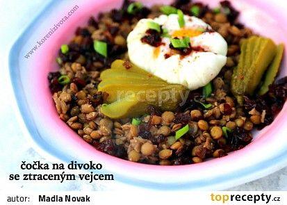 Čočka na divoko s karamelizovanou balsamico cibulí recept - TopRecepty.cz