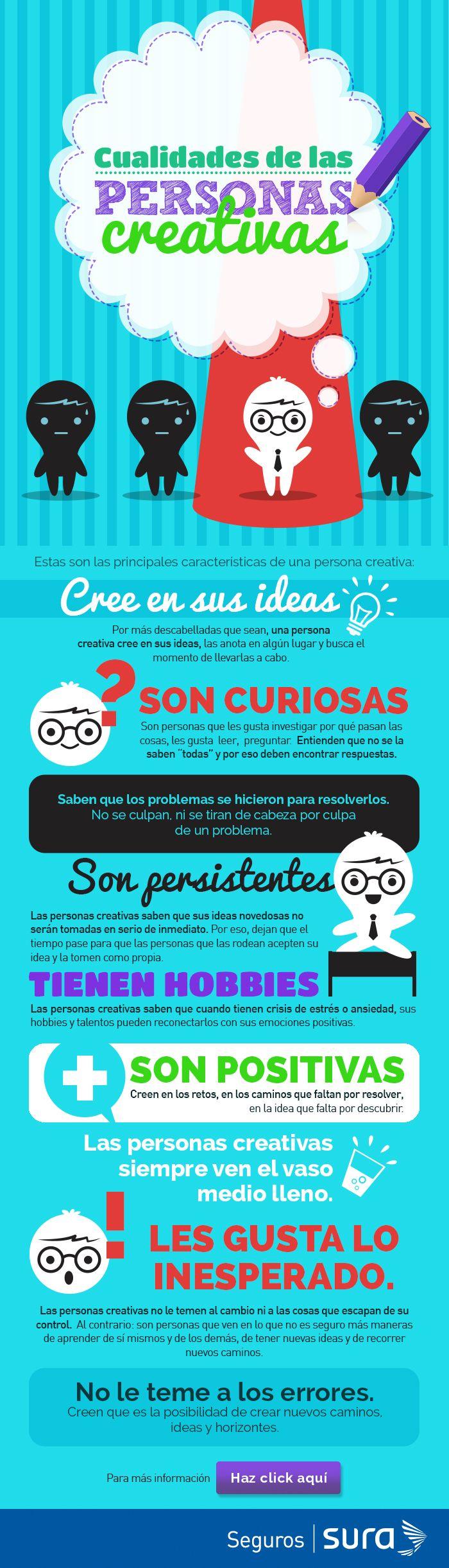Las personas creativas son positivas. ¡Cree en tus ideas!