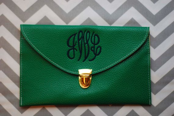 Monogrammed Clutch  Envelope Purse Envelope by ClassyClutchonEtsy, $19.95  Fantastic Bridesmaid Gift!!!