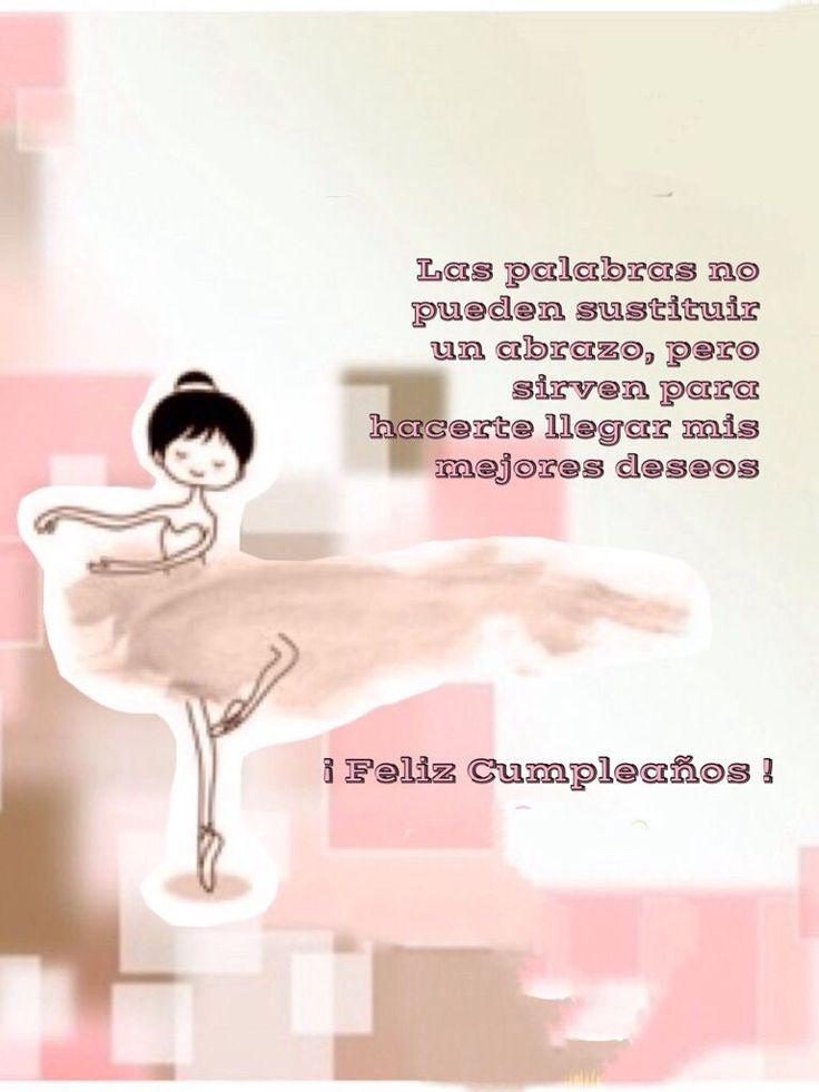 Tarjeta cumpleaños, bailarina