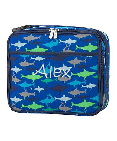 Another great find on #zulily! Blue Shark Pocket Personalized Lunch Bag #zulilyfinds