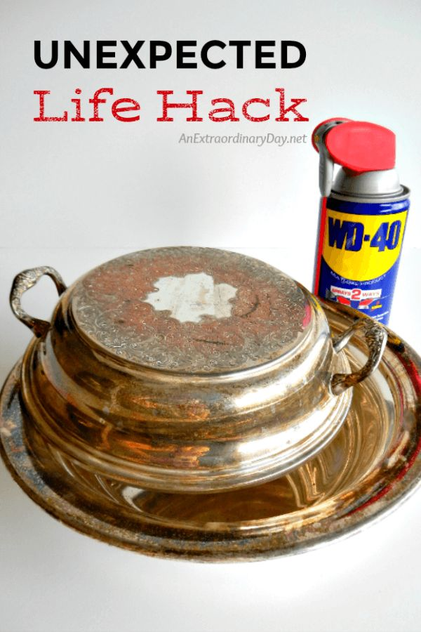 Who knew you could remove tarnish and polish silver with WD-40?