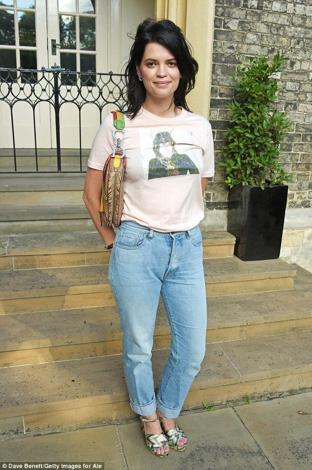 Grunge glam: Meanwhile, Pixie, who is the daughter of rocker legend Bob Geldof, opted for ...