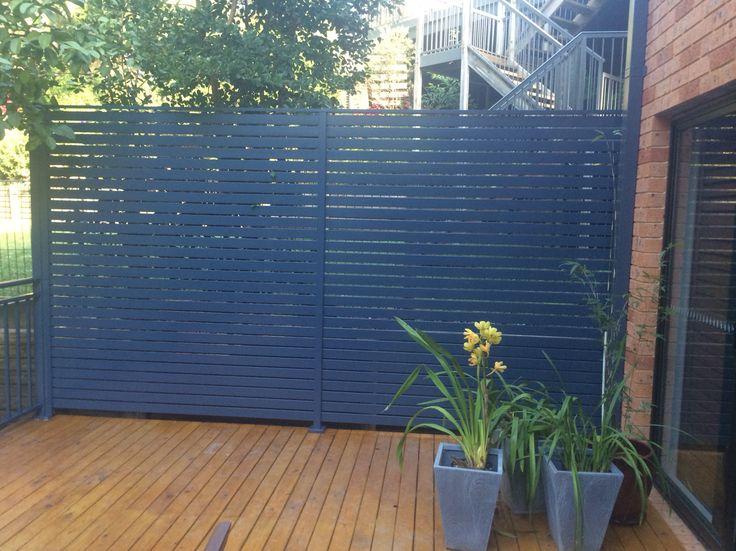 Powdercoated Aluminium privacy screen