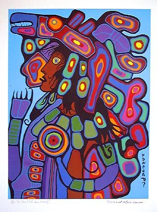 """As The Artist Sees Himself"" ~ by Norval Morrisseau"