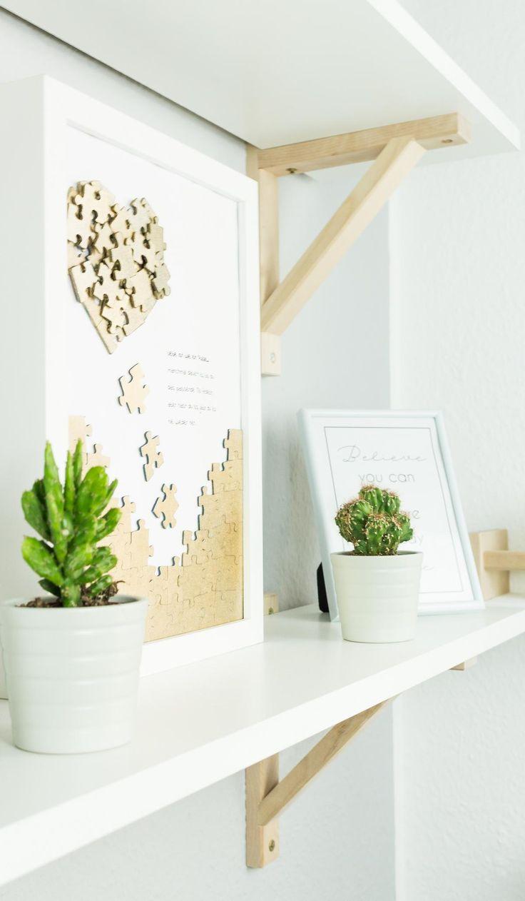 DIY Puzzle Heart Mural – Beautiful DIY Gift Idea