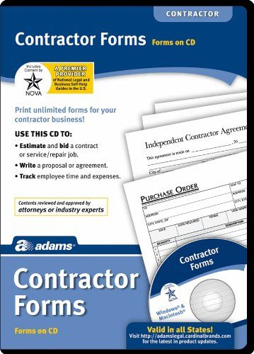 9 best contractor books images on pinterest alternative blueprint adams real estate forms library on cd white malvernweather Images