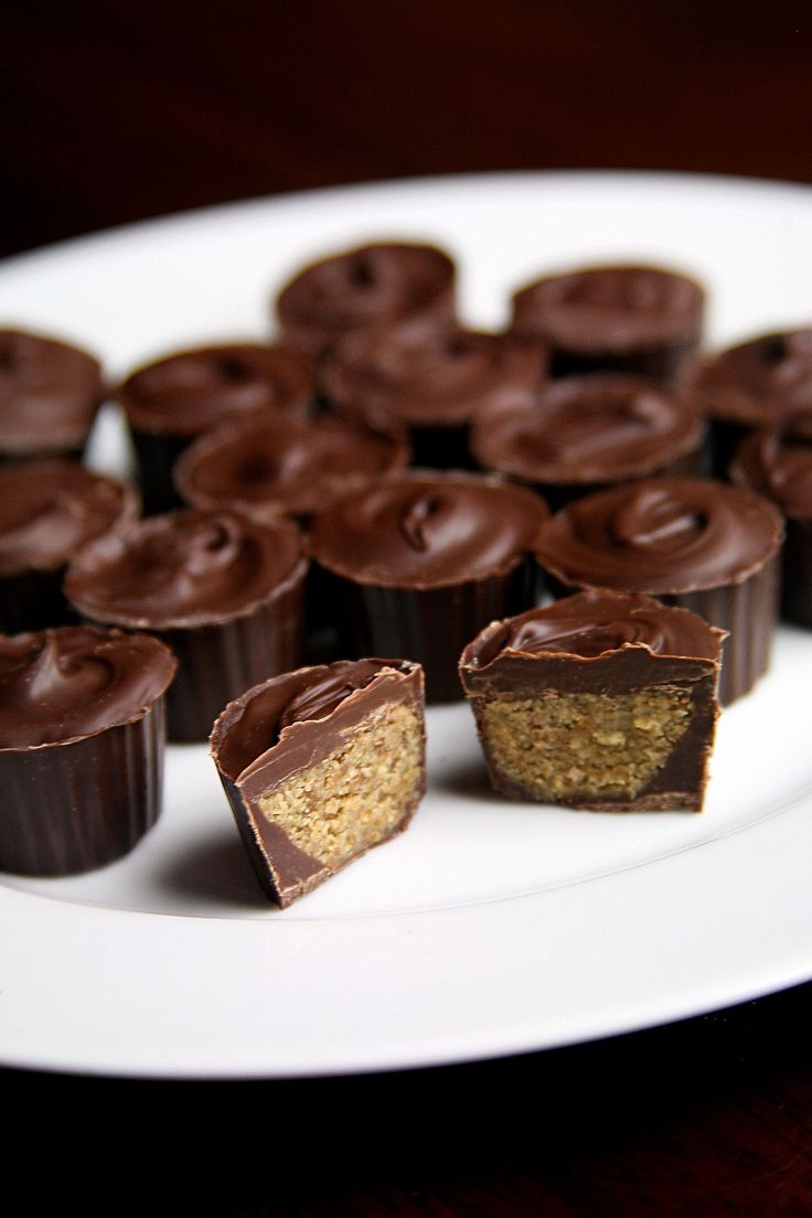 Chocolate Sunbutter Cups: These chocolate gems are 52 calories apiece and offer 1 gram of protein and 0.7 grams of fiber. They take 40 minutes to whip up, and just four ingredients.