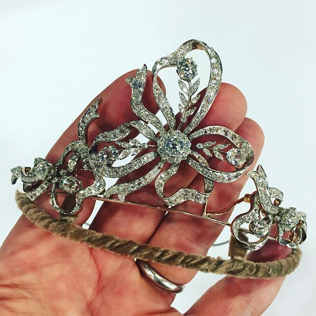 Antique diamond tiara from a noble Russian estate#tiara#diamondtiara #forsale#js_jewels_ltd