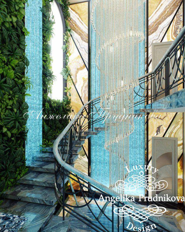 Дизайн интерьера особняка в Подмосковье - фото