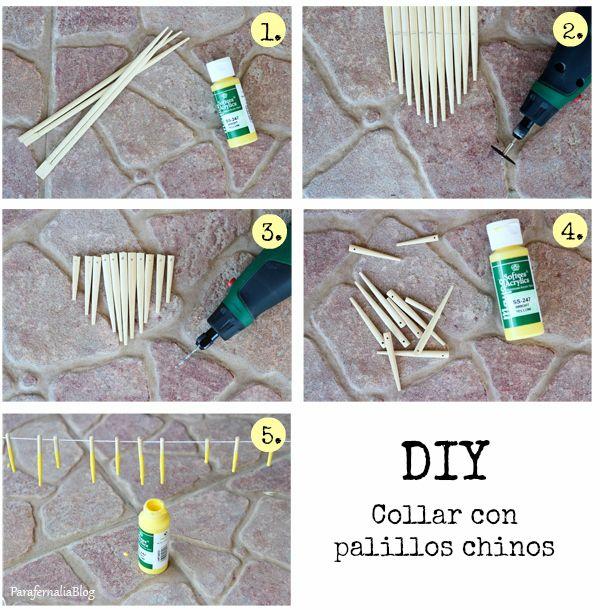 DIY: Collar con palillos chinos
