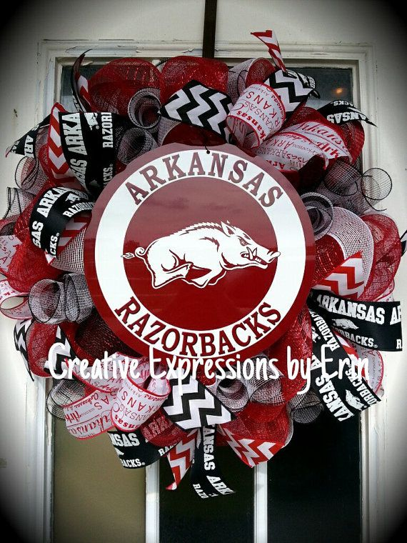 Arkansas Wreath Razorback Inspired Wreath Collegiate Home Decorators Catalog Best Ideas of Home Decor and Design [homedecoratorscatalog.us]