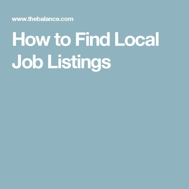 How to Find Local Job Listings