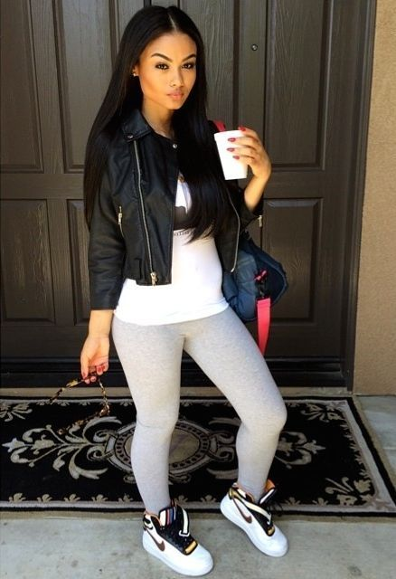 Leggings Outfit. Nike Sneakers Outfit. Sporty. Urban Fashion. Swag. India Westbrooks Style ...