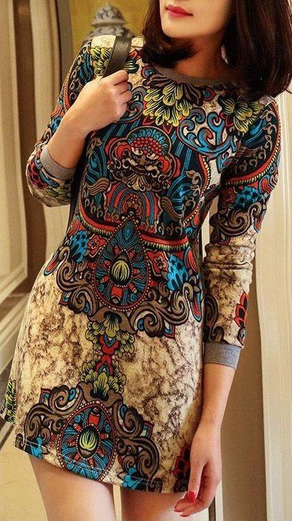 Ethnic Floral little Dress                                                                             Source
