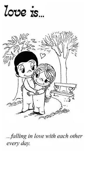 """""""Love is... falling in love with each other every day"""""""