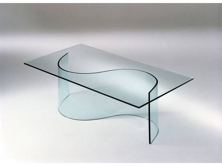 tavolo esse in cristallo