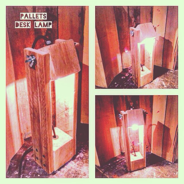#pallets #desklamp - #handmade #wood #design #riciclocreativo #riciclo #homedecor #recycle  #basementshop #pallet #palletfurniture #diy #hobby #bancali #lamp