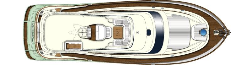 Flybridge - Mochi Craft - Dolphin 64' Cruiser #yacht #luxury #ferretti #mochi