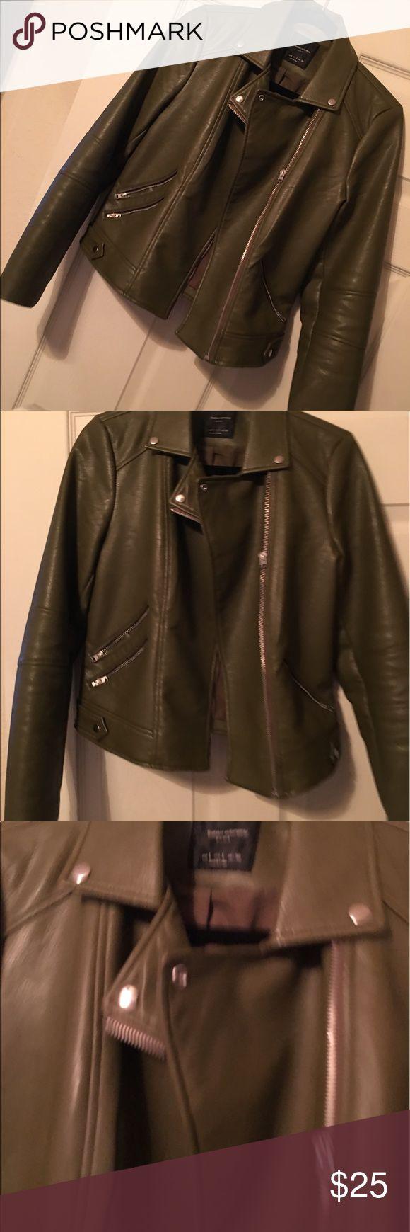 Fuax leather Zara jacket Fuax leather Zara jacket Zara Jackets & Coats