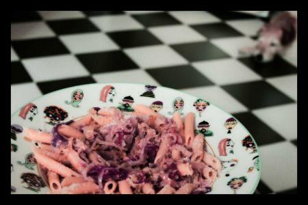 Ricette a 4 zampe: Pasta per cani con verdure rosé di Cookingforfido #ricetta per #cani